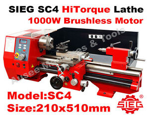 Details about SIEG SC4 / 210x510mm HiTorque Bench Lathe Super C4 1000W  Brushless Motor
