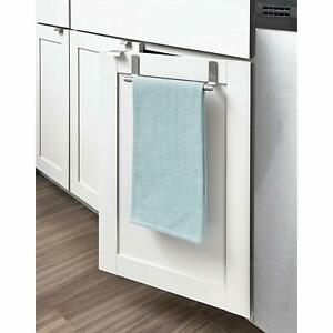 Details about Over the Door Kitchen Cabinet Dish Towel Bar Stainless Steel  Hanging Rack Holder