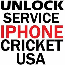 Cricket USA iPhone SE 6S 6S+ 6 6+ 5S 5C 5 4S 4 Factory Unlock Service Code