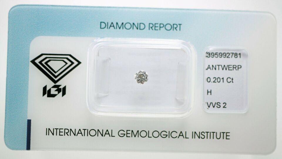 Andet smykke, diamant, IGI