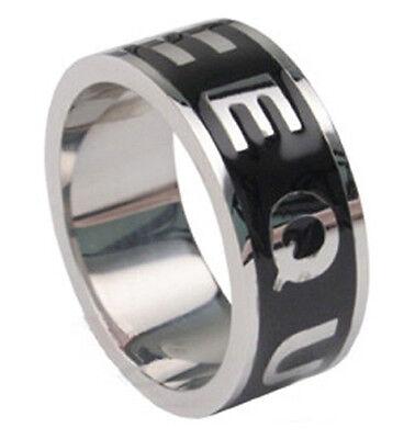 Pride Shack - Black Enamel Equality Ring - LGBT Lesbian Gay Pride Ring Steel