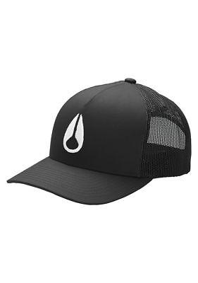Nixon Iconed Trucker Hat Black white One Size  f2aa4e36463