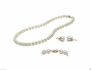 8MM-NATURAL-WHITE-SOUTH-SEA-SHELL-PEARL-NECKLACE-18-034-14K-GP-EARRINGS-AAA
