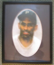 VINTAGE ROBERTO CLEMENTE FRAMED & MATTED PRINT PIRATES BUCCOS RARE