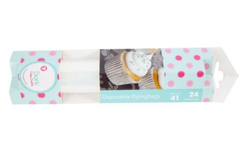 """24 x 16.5/"""" Inch Clear Piping Bags On A Roll 41cm"""