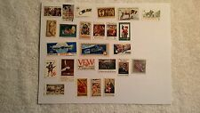 LOT OF 25  US-VINTAGE MNH COMMEMORATIVE POSTAGE STAMP COLLECTION OVER 40YRS OLD