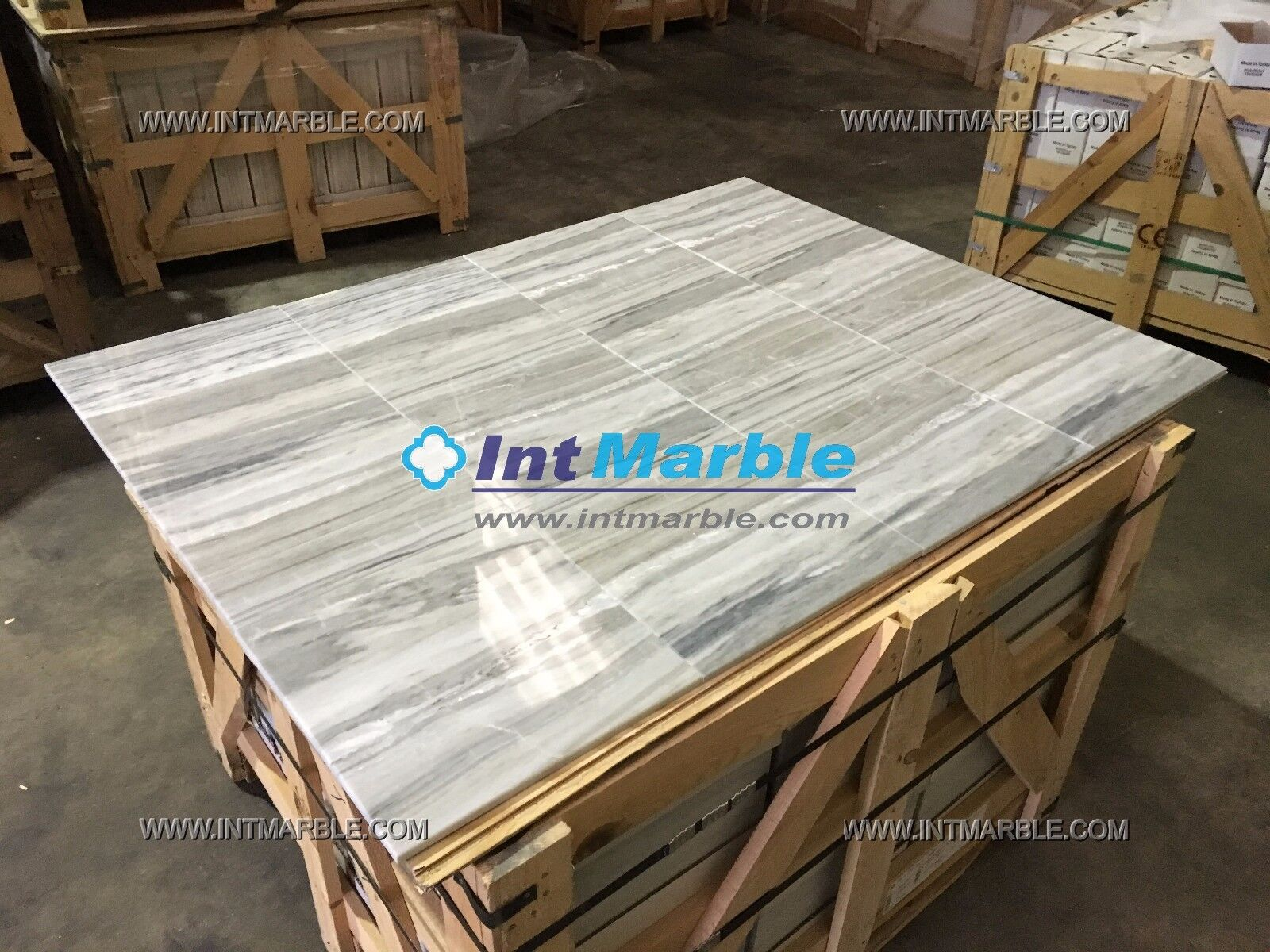 Marble Tiles Palissandro Blau, Polished Luxury Marble Tile Floor Wall TraGrünine