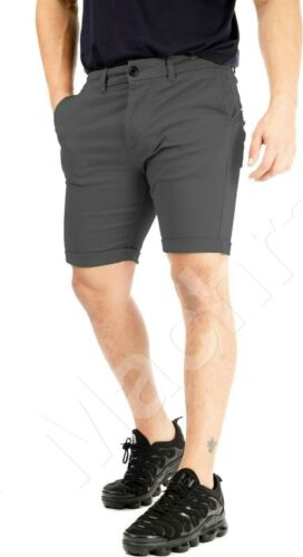 """42/"""" Mens Branded Chino Slim Fit Shorts Roll Up Stretch Summer Casual Size 32/"""""""