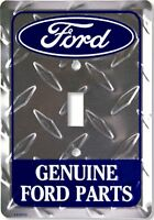 Ford Genuine Parts Diamond Aluminum Novelty Single Light Switch Cover