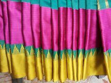 Handloom Nice Border Saree Fabric South silk Sari Partywear,Festiv Saree Blouse