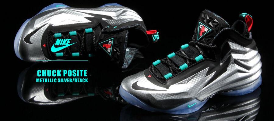 Nike Chuck Posite Metallic Silver size 13. 684758-001. barkley posite foamposite