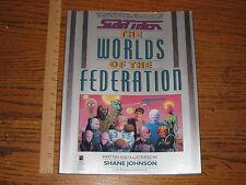 POCKET BOOKS - STAR TREK- THE WORLDS OF THE FEDERATION -GORNAR-KLINGON-VULCAN