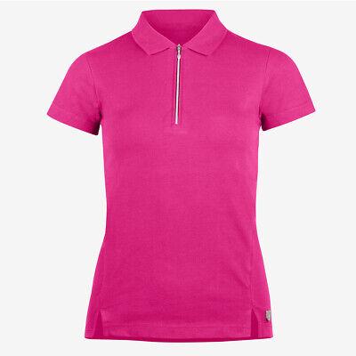 HORZE Jasmine Womens Short Sleeve Riding//Equestrian Top//Polo Shirt Purple