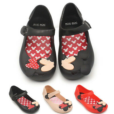 KIds Toddler Girls Mickey Minnie Mouse Cartoon Sandals Summmer Jully Shoes Gifts