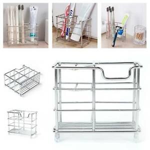 Stainless-Steel-Bath-Toothpaste-Holders-Stand-Vertical-Toothbrush-Holder-Storage