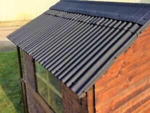 BITUMEN CORRUGATED 6' x 9' SHED ROOF SHEET TILE KIT | eBay