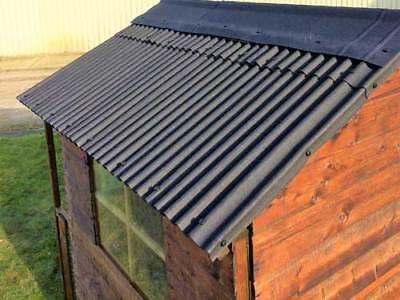 Bitumen Corrugated 6x10 Shed Roof Sheet Tile Kits Ebay