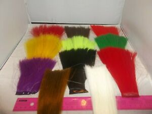 6-034-Fishair-Original-fish-hair-Made-in-USA-70-denier-green-white-chartreuse-red
