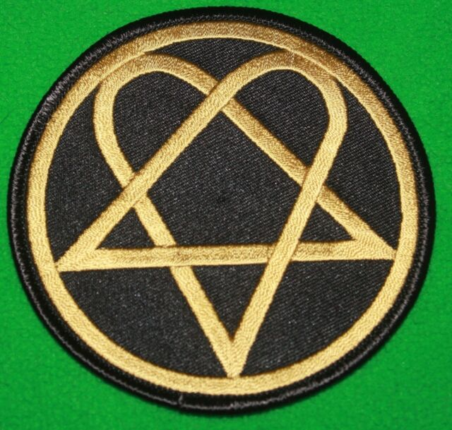 HIM Heartagram Ville Valo Bam Margera Sew/Iron On Patch Badge Applique-New!
