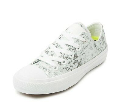 Converse Chuck Taylor All Star II OX WhiteSilver Low Top Sneaker 154890C | eBay