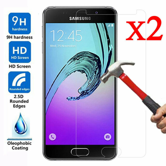 1/2X Tempered Glass Screen Protector For Samsung Galaxy A3 A5 A7 2016 / 2017