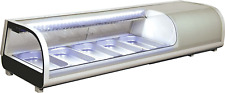 Omcan 39997 Commercial Restaurant 53 Inch 183 Cu Ft Sushi Show Case