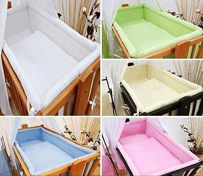 Crib All Round Padded Thick Bumper 260 cm 90x40 cm Crib Size Plain Cream
