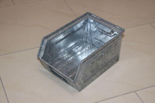 4x Stapelboxen Lagerbox Stapelkiste verzinkt Sichtlagerkiste Metallboxen