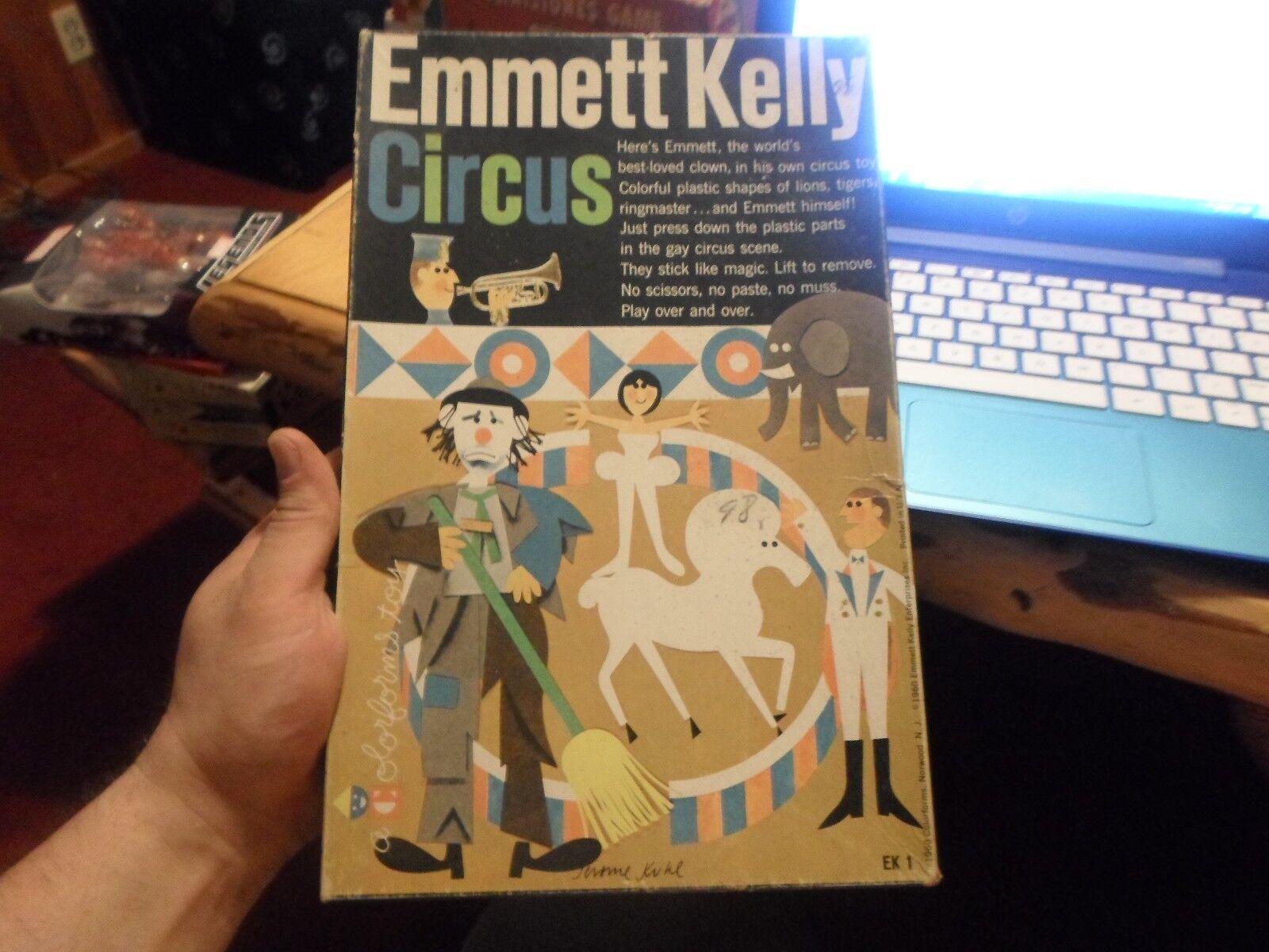 1960 emmett kelly Farbeform set komplett - zirkus - clown - jahrgang