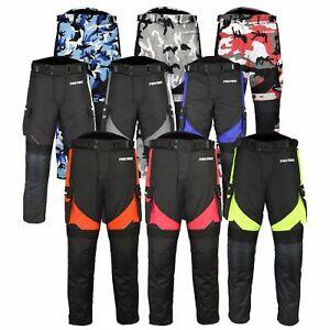 ProFirst-Motorrad-Hose-Textil-Cordura-Motorradhose-Schwarz-rot-gruen-Gr-XS-6XL