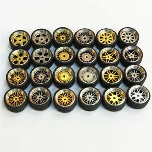 1-64-Scale-Alloy-Wheels-Custom-Hot-Wheels-Matchbox-Tomy-Rubber-Tires