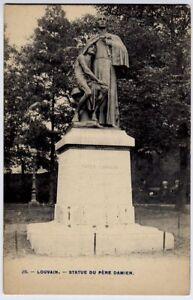 Louvain-Louven-Belgie-Belgique-Belgium-vintage-Postcard-CPA-Pere-Damien