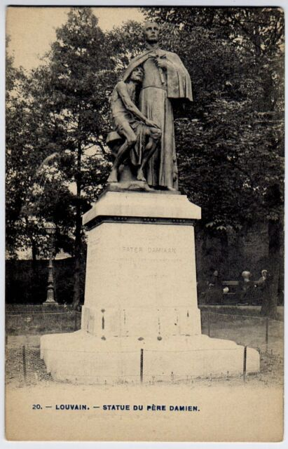 Louvain / Louven, Belgie / Belgique / Belgium vintage Postcard CPA - Pere Damien