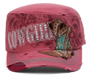 TopHeadwear-Cowgirl-Boots-Distressed-Cadet-Cap