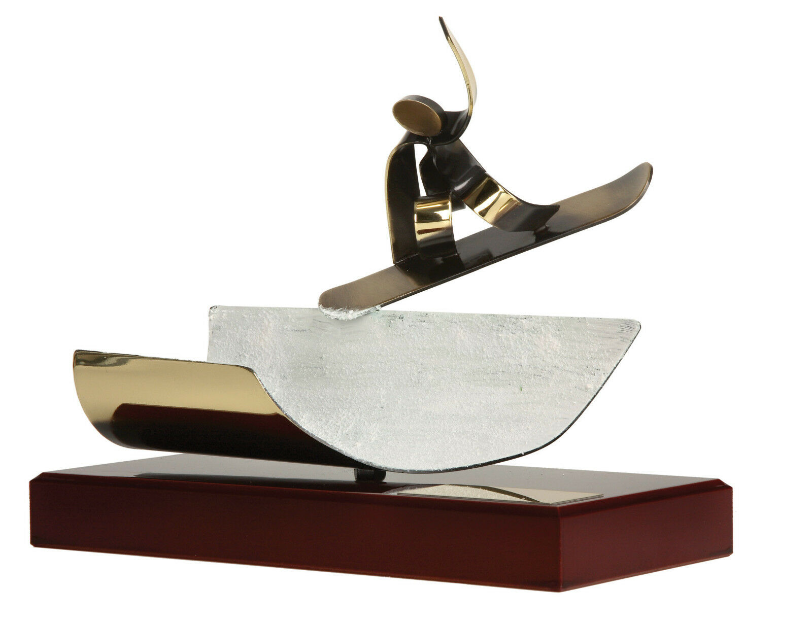 HANDMADE ALL METAL SNOWBOARD TROPHY GIFT TOP QUALITY FREE POSTAGE FREE ENGRAVING
