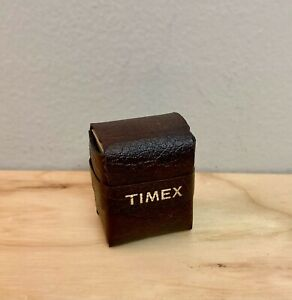 Vintage Mini Timex Travel Alarm Clock & Case Black As Is Not Working