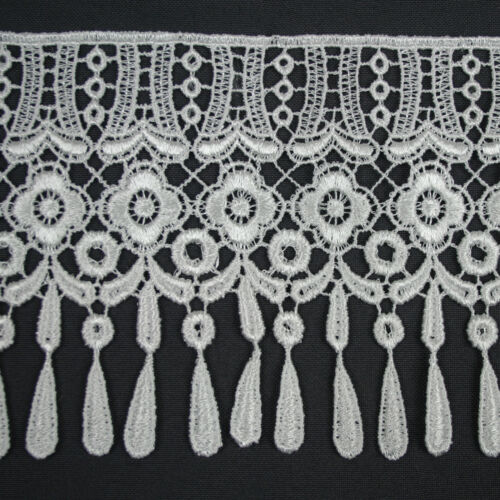 """5//8/""""~5-1//8/"""" Wide Ivory Off White Embroidered Venice Lace Guipure Trim by Yardage"""