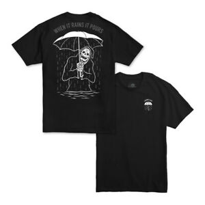 Lurking-Class-by-Sketchy-Tank-034-Rains-It-Pours-034-Short-Sleeve-Tee-Black-T-Shirt