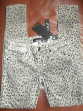 LADIES BABY PHAT SKINNY FINE CORD ANIMAL PRINT PANTS JEANS SIZE 3 NEW  TAGGED