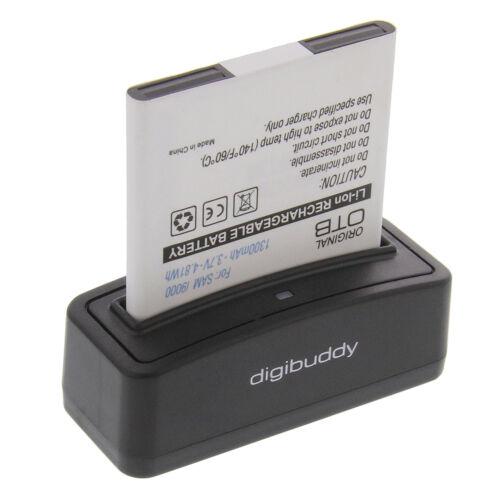 Akkuladegerät Akku für Samsung Galaxy Ladegerät Ladestation Akkulader QR