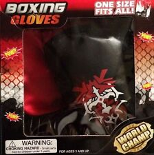 World Champ Childrens Boxing Gloves 3+ NEW!! One Size Fits All Toy Boxing Gloves
