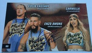 Enzo-Amore-Signed-Photo-Wwe-Wrestling-Autograph-NXT-AEW-TNA-ROH-WWE
