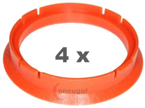 4 pezzi anelli di centraggio in plastica 70.0mm su 60.1mm ARANCIO