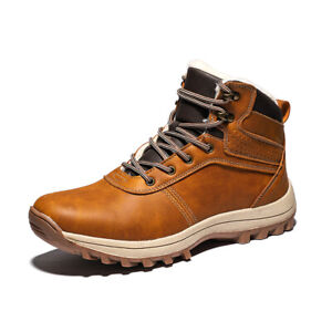 Men-039-s-Snow-Boots-Outdoor-Hiking-Boots-Work-Shoes-Winter-Keep-Warm-Waterproof