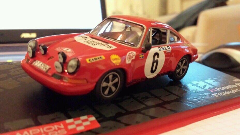 Porsche 911s No. 6 Rally Monte Carlo 1970 Waldegard, Helmer 1 43 IXO