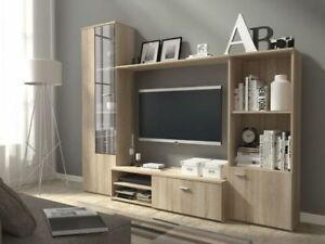 Living-room-furniture-set-display-tv-unit-shelf-glass-cabinet