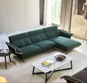 Italienische Design Möbel Wohnzimmer Textil Ecksofa Couch ...