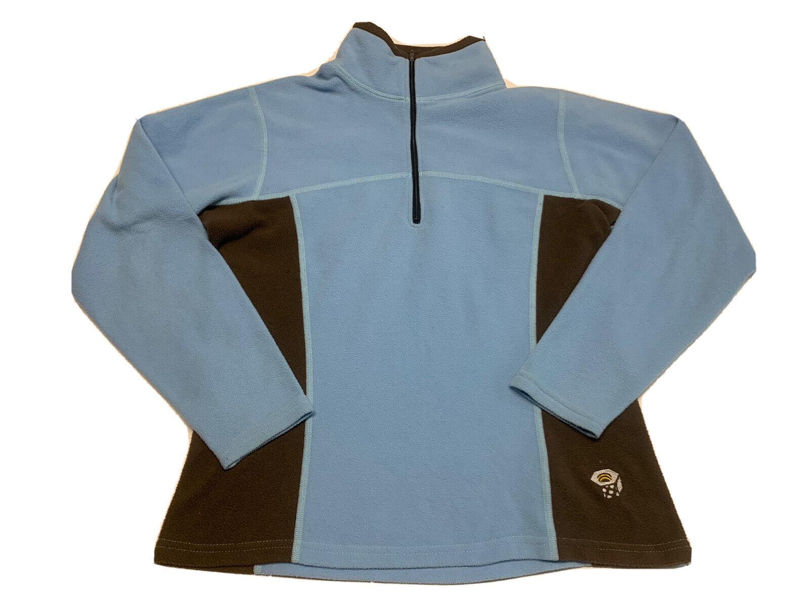 Mountain Hardware Womens Size 8 Polartec Fleece Pullover Blue 1/4 Zip Jacket