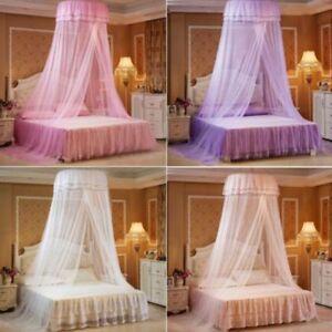 Das Bild Wird Geladen Heisse Runde Spitze Vorhang Dome Bett Baldachin  Netting