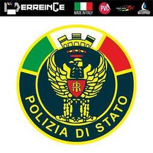 Sticker-POLIZIA-Adesivo-Parete-Decal-Laptop-Mural-Casco-Auto-Moto-Camper-Vinile
